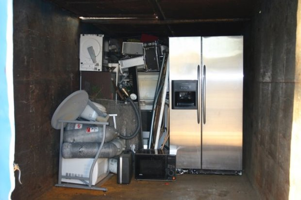 metals (yep that's a full refrigerator getting the proper heave-ho)